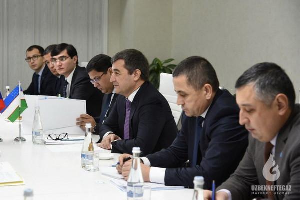 Алишер Султанов и Мехриддин Абдуллаев встретились с представителями компании «Газпром»