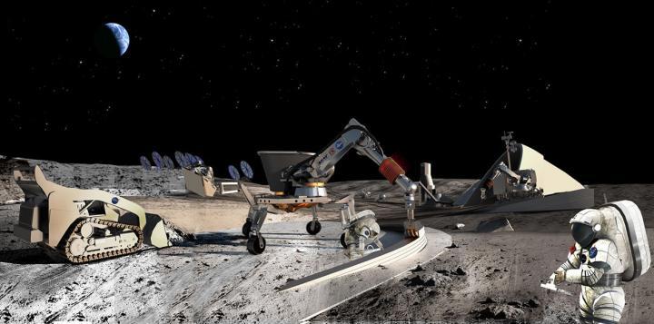 Япония испытала технику для строительства лунной базы
